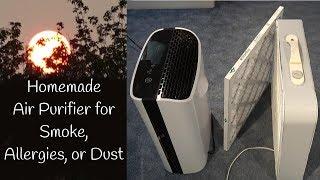 HEPA vs DIY Air Filter for Smoke, Dust, Pollen, Dander