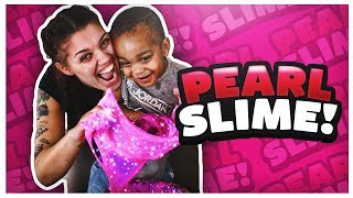 HOW TO MAKE GIANT PEARL SLIME | DIY SHINY SHIMMERY SQUISHY SLIME | THE PRINCE FAMILY