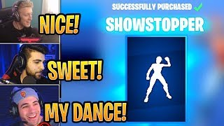 Streamers LOVE the *NEW* Showstopper Dance / Emote! - Fortnite Best and Funny Moments