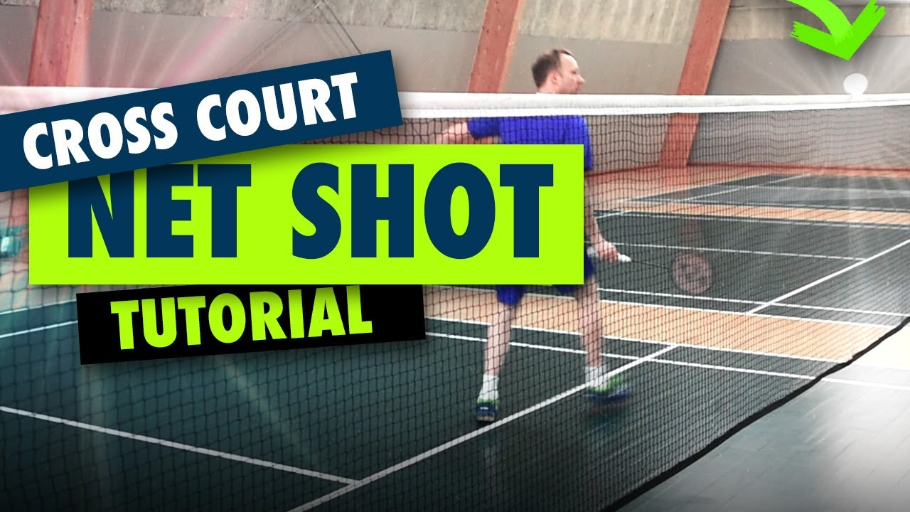 Badminton backhand net shot - Cross court tutorial