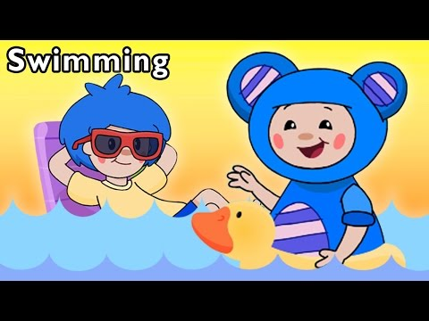Pool Party with Friends | Swimming and More | Baby Songs fro