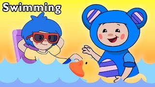 Pool Party with Friends | Swimming and More | Baby Songs from Mother Goose Club!