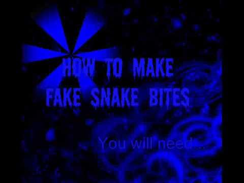 How to Make Fake Snake Bites