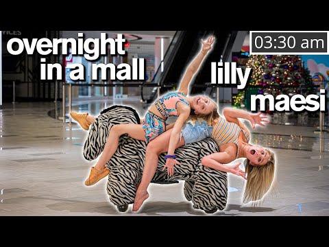 24 HOUR CHALLENGE IN A MALL ft/Dance Moms Lilly, Maesi & Abby Lee - Jordan Matter