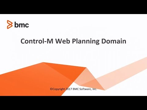 Control-M Web Planning Domain Overview