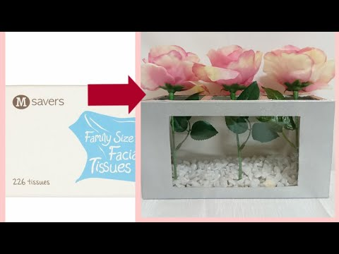 Cardboard Tissue Box Crafts - Upcycle /Recycle DIY | Wedding Decor | Valentines Crafts S1 E8