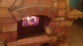 Русская печь с плитой Завальное