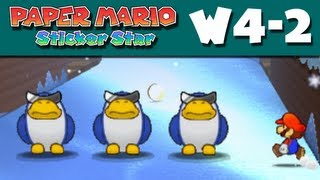 Paper Mario Sticker Star - W4-2 - Ice Flow (Nintendo 3DS Gameplay Walkthrough)