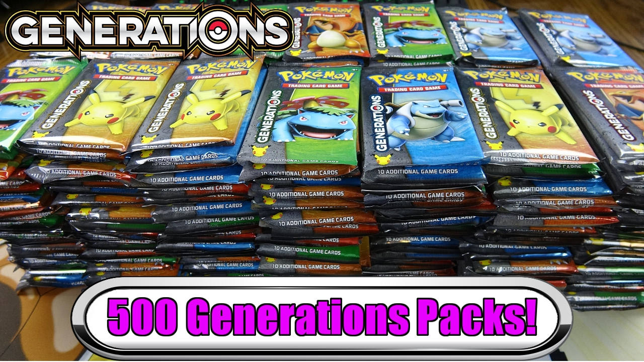 3 000 pokemon generations opening 500 generation booster packs