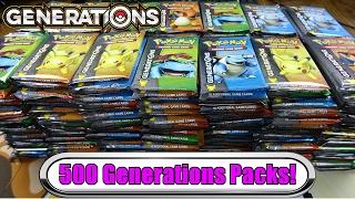 $3,000+ Pokemon Generations Opening! 500 Generation Booster Packs Unboxing! -  pokemon tcg