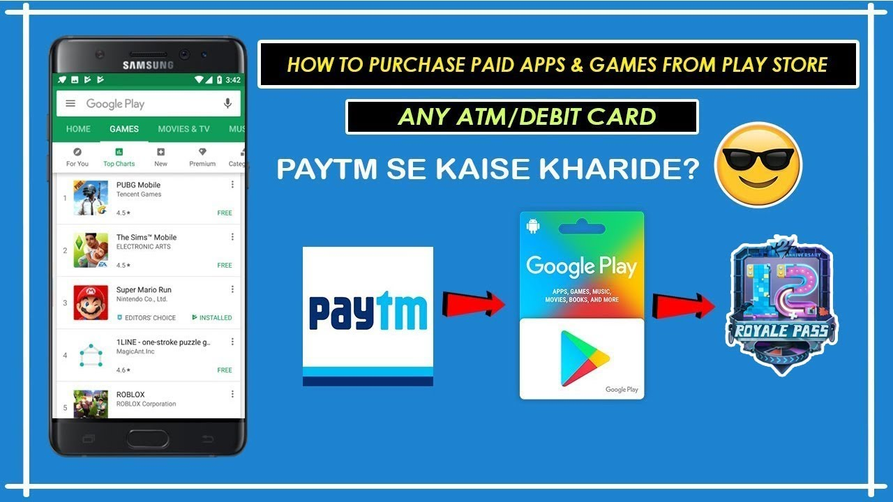 How To Buy Google Play Gift Card Using Paytm | Purchase any Apps/Games from  PlayStore