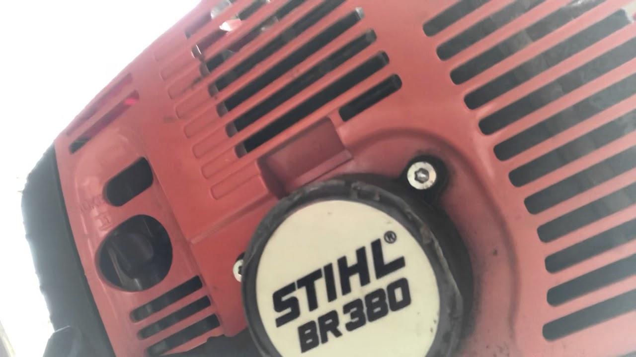 Stihl BR 380 Start Up