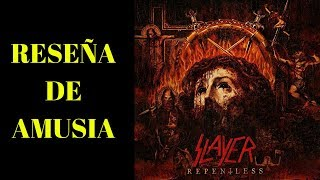 SLAYER  - Repentless charla comentario