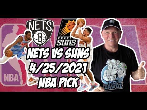 Brooklyn Nets vs Phoenix Suns 4/25/21 Free NBA Pick and Prediction NBA Betting Tips