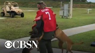 Navy investigating dog attack demonstration featuring man wearing Colin Kaepernick jersey