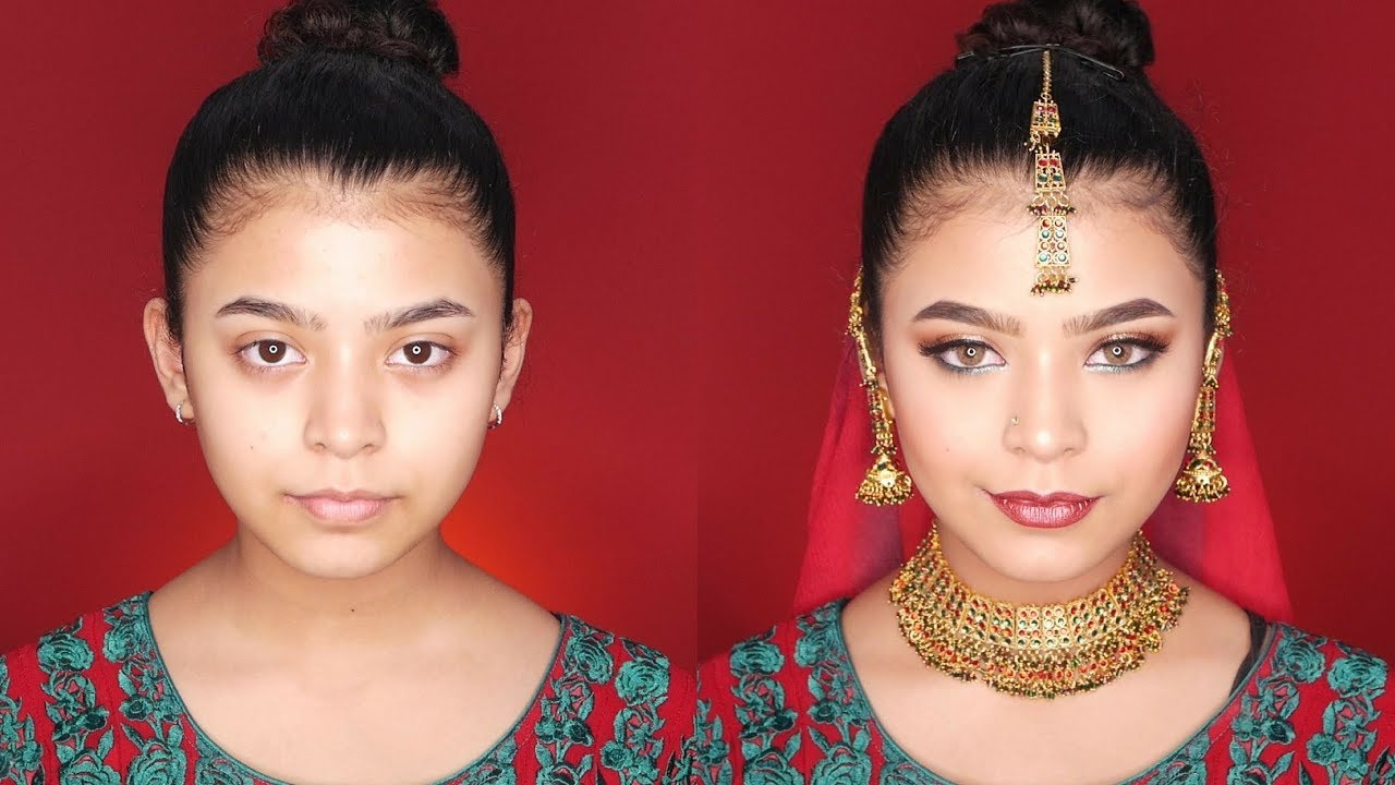 HOW TO: INDIAN BRIDAL MAKEUP || Full face of NYX cosmetics