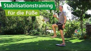 4 wichtige Stabilisationsübungen für Fuß und Kniegelenke