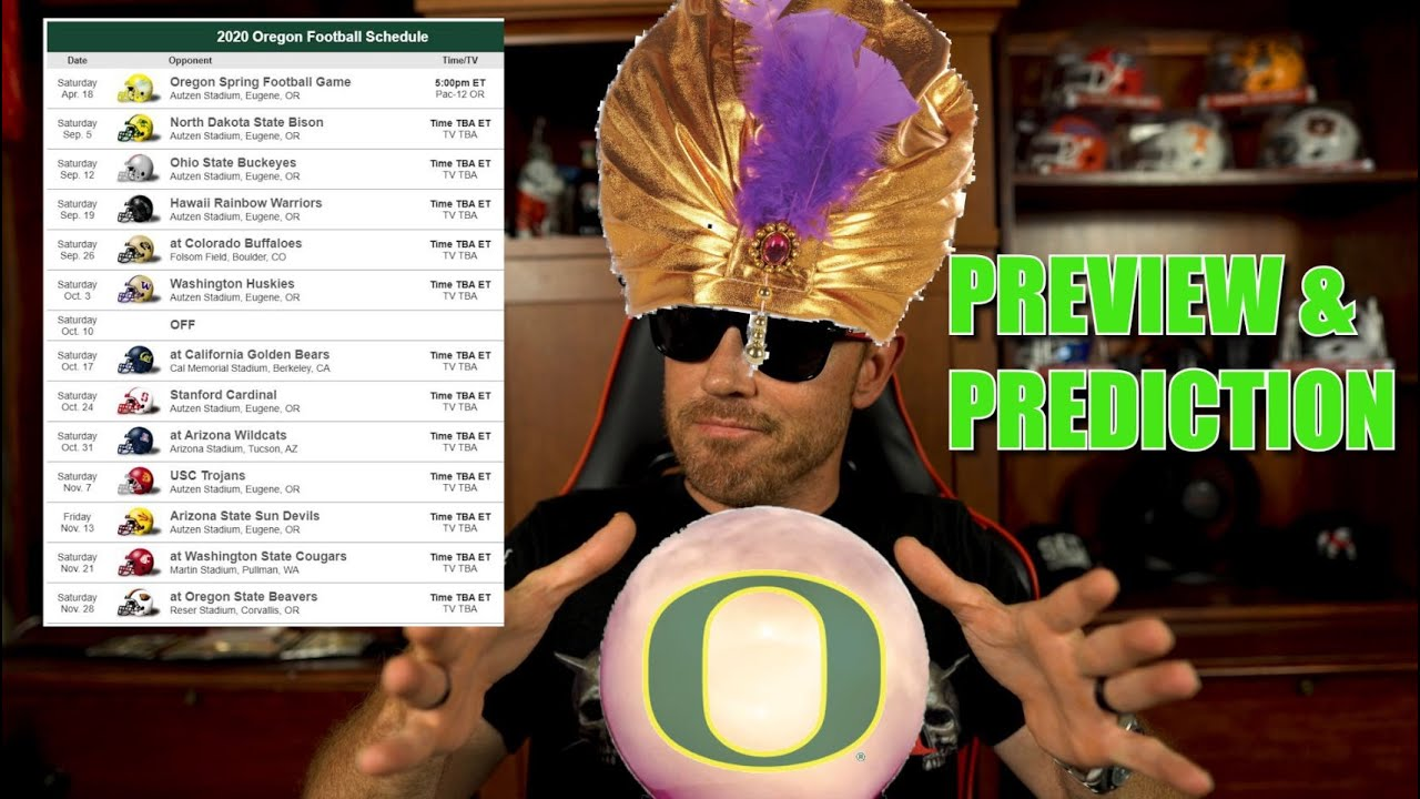 OREGON DUCKS 2020 COLLEGE FOOTBALL SEASON PREVIEW & GAME BY GAME PREDICTION