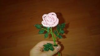 Как сделать Розочку из бисера. Rose Bead