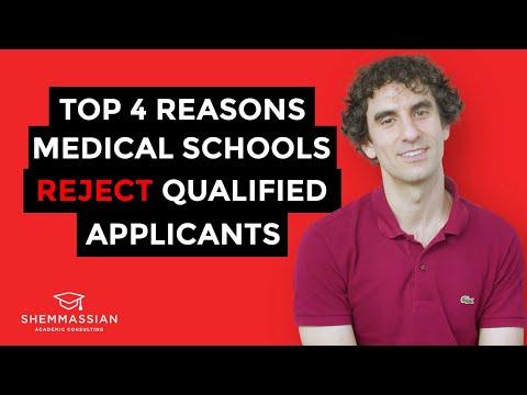 Top 4 Reasons Medical Schools Reject Qualified Applicants