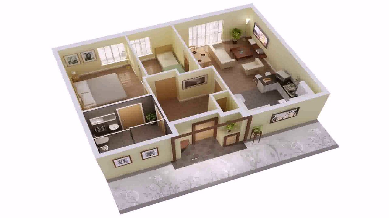 3 Bedroom House Plans Single Floor 3d Youtube