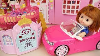 Baby doll car and open house toys baby Doli play