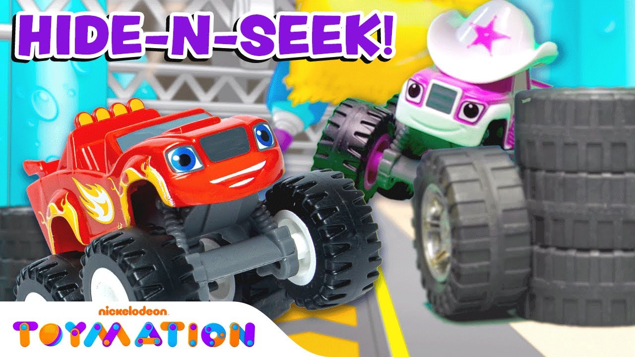 Play Hide and Seek with Blaze and the Monster Machines Toys!   Toymation