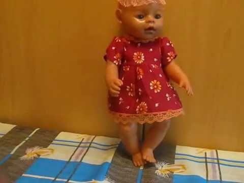 Платье для куклы Беби Борн. How to sew clothes for the doll Baby Born