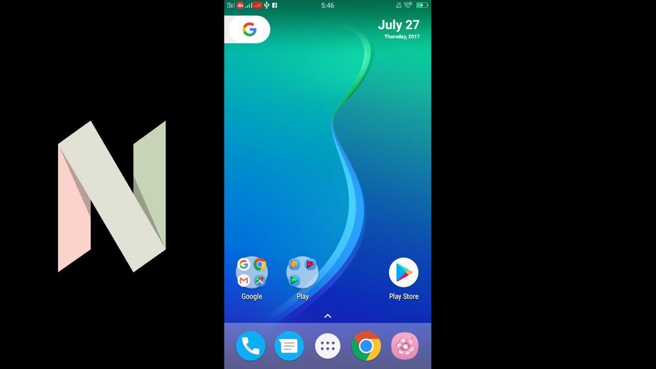Install Vivo V5s Android N Launcher Nougat 7 0 Default Theme 2017