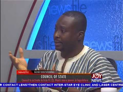 Council of state - Newsfile on JoyNews (19-8-17)