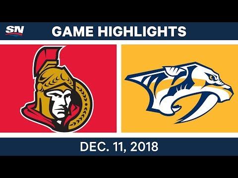NHL Highlights | Senators vs. Predators - Dec 11, 2018