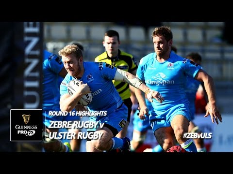 Round 16 Highlights: Zebre Rugby v Ulster Rugby | 2016/17 season