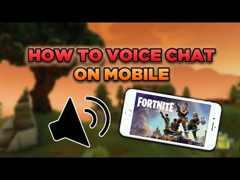 HOW TO VOICE CHAT ON FORTNITE MOBILE