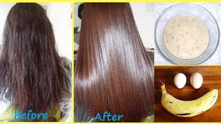 Deep Conditioning Hair Mask For Dry, Damaged And Frizzy Hair | Egg And Banana Hair Mask