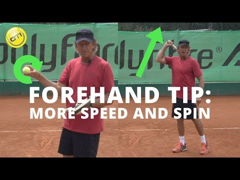 Tennis Forehand Tip: More Speed and Spin