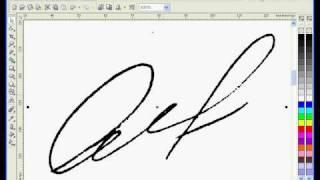 Лучшие Видеоуроки Corel DRAW X3. Урок № 51.(В этом видео я покажу как из осканированной подписи сделать веторную силами Corel DRAW X3. Работаем с трассировко..., 2009-07-11T06:24:08.000Z)