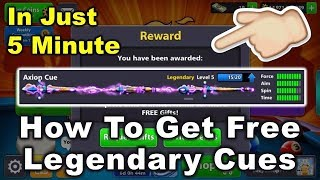 How To Get Free Legendary Cue In 5 Minutes Only