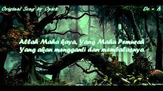 Karaoke Lirik Opick - Sedekah ( Minus One / Instrument ) Video Lirik HD Male Version