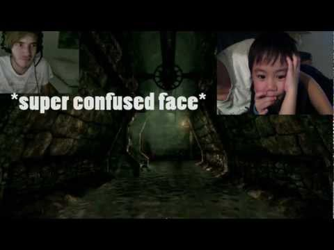5 year old SCARED reaction of Pewdiepie AMNESIA MONTAGE