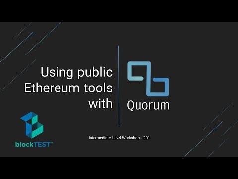 Using Public Ethereum Tools With Quorum