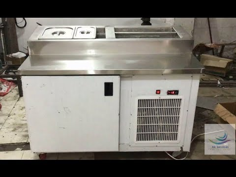Pizza Make Line Manufactures In Delhi And India & Get Pizza Prep Table Price.