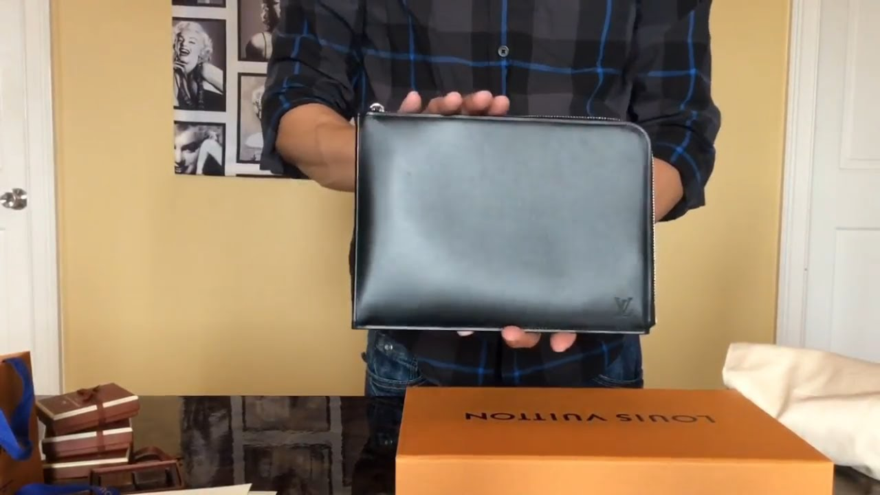 aa9248e02506 Louis Vuitton Holiday VIP Gift from my SA Pochette Jour Souple - YouTube