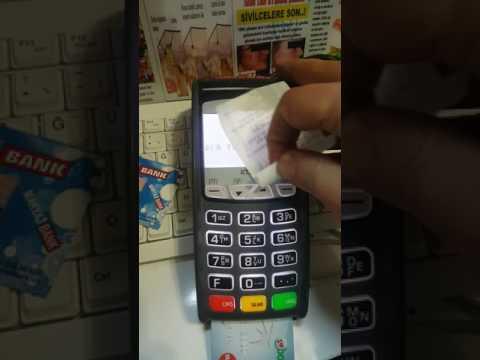 Kredi Kartı Pos Cihazında Nasıl Çekilir..
