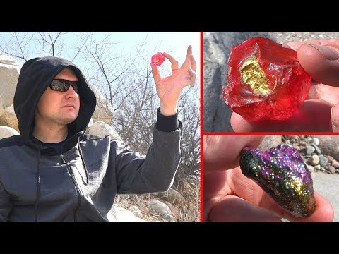 Pink Sapphire Was Found Near Giant Stones
