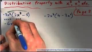 Distributive property with high powers of x