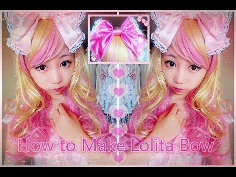 diy easy hair bow  lolita headbow  youtube