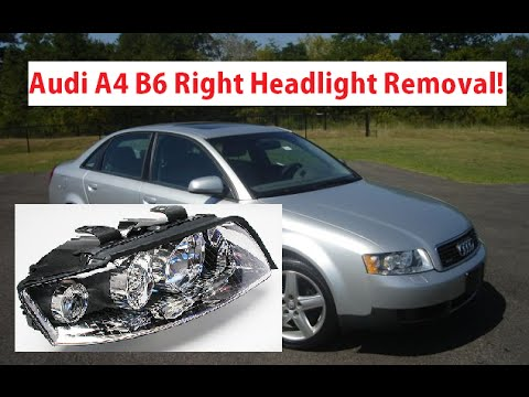 audi a4 b6 right passenger headlight removal replacement. Black Bedroom Furniture Sets. Home Design Ideas