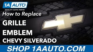 How to Replace Grille Emblem 07-13 Chevy Silverado
