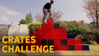 Crate Challenge infront of African Mom | Mama Nells