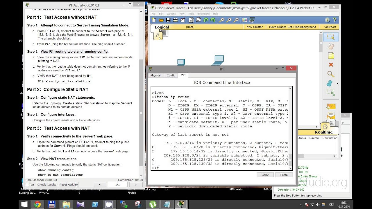 Ccna 2 Packet Tracer Activity 11214 Solution Youtube
